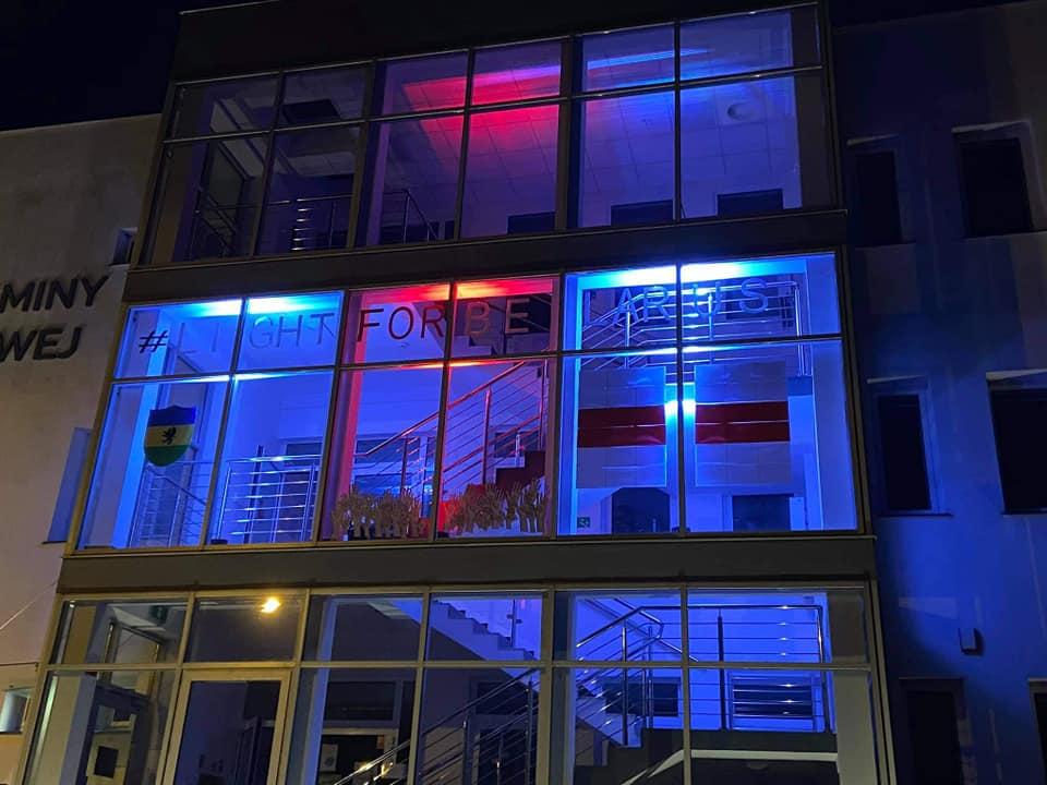 Światło dla Białorusi w Krokowej - fot. Krokowskie Centrum Kultury