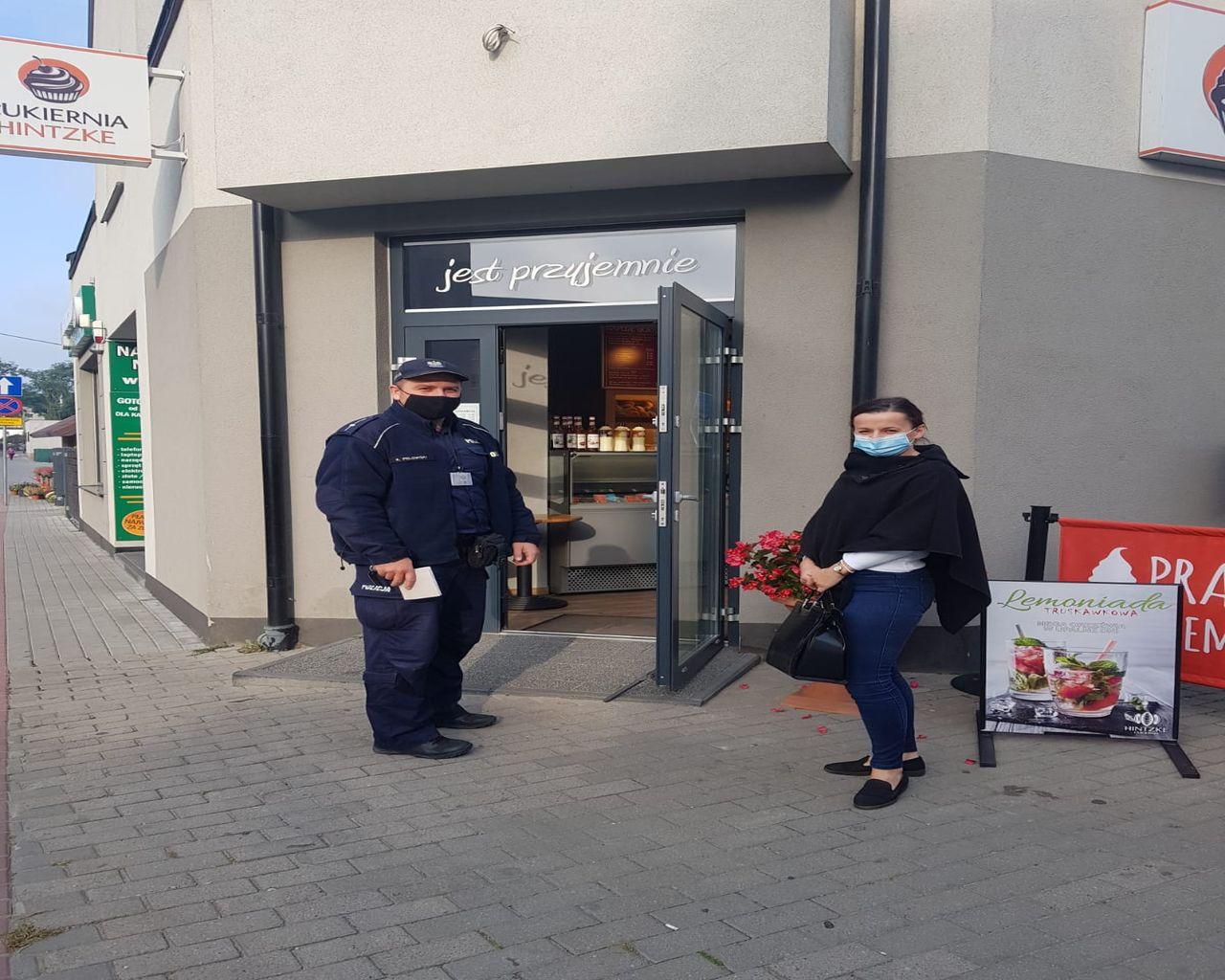 Koronawirus w powiecie puckim. Kontrole policji w puckich sklepach