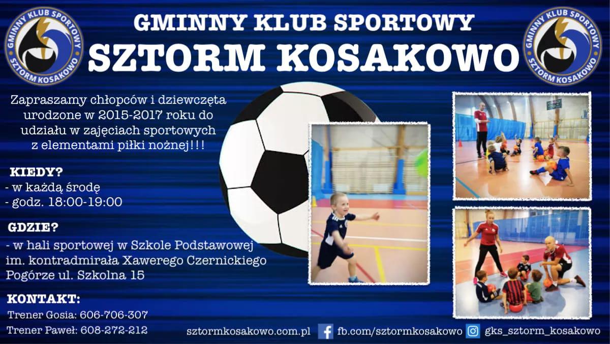 Sztorm Kosakowo szuka przyszłych piłkarzy: chłopców i dziewczynki z roczników 2015-2017