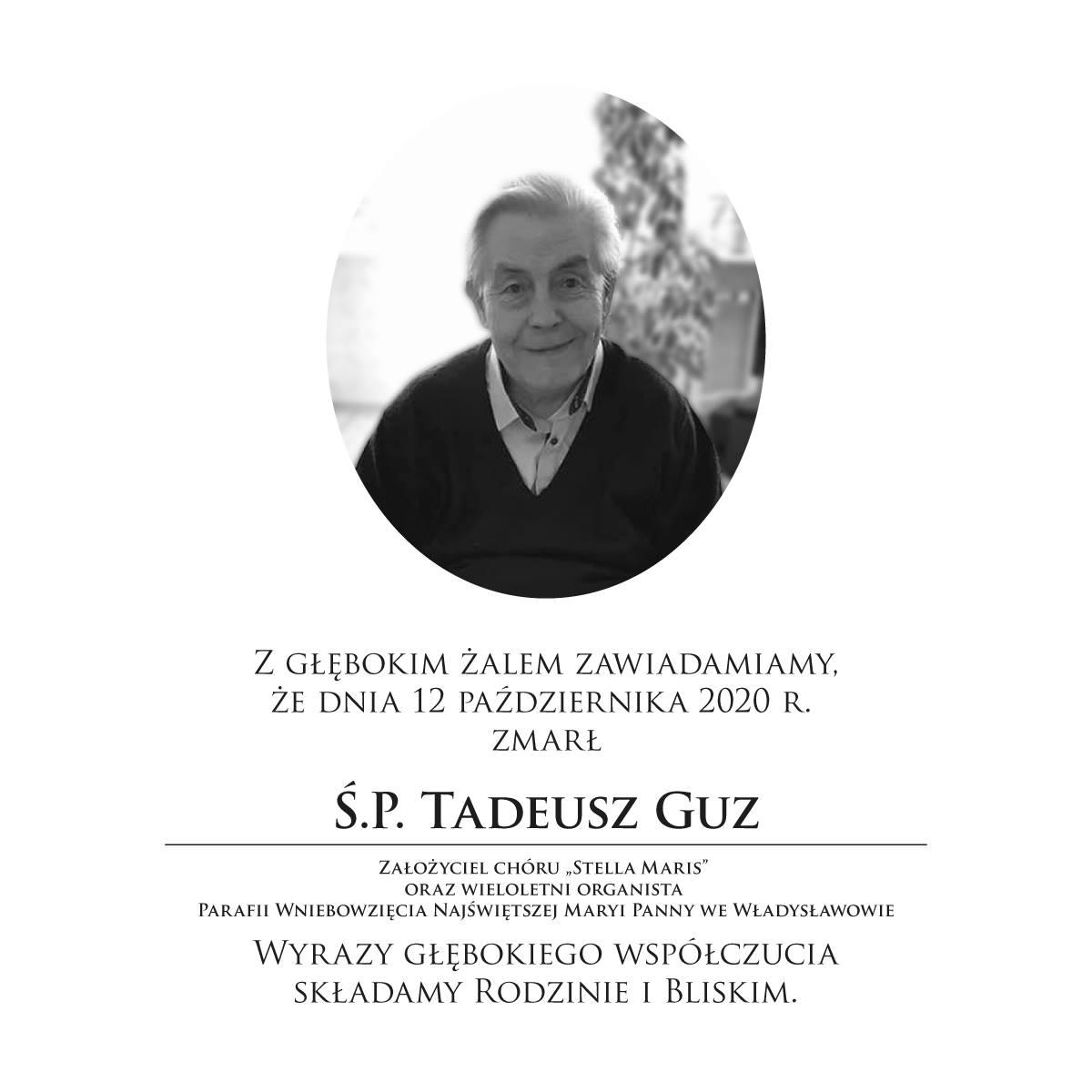 Nie żyje Tadeusz Guz, organista z parafii we Władysławowie