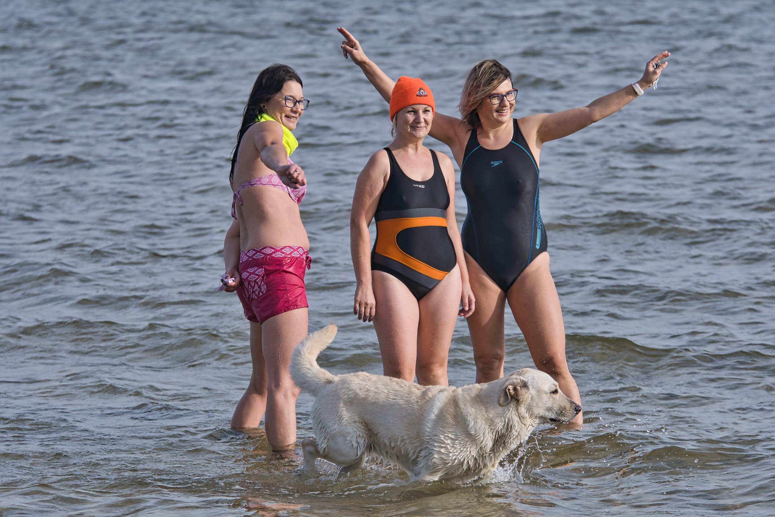 Morsy Puck (2020): rozpoczęli nowy sezon kąpieli w Zatoce Puckiej | ZDJĘCIA