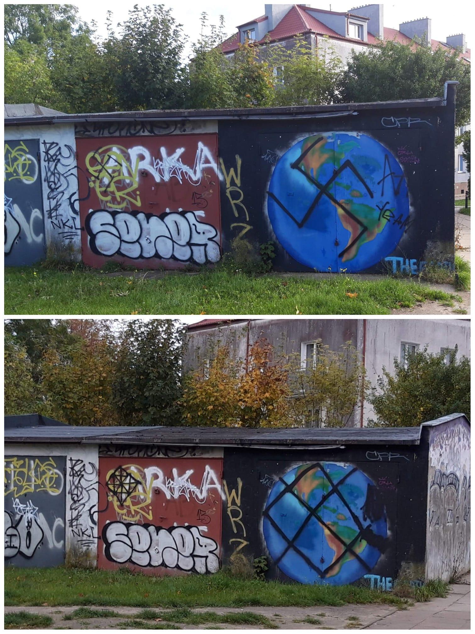 Straż Miejska we Władysławowie kontra swastyka. Będzie kara za grafitti na garażu?