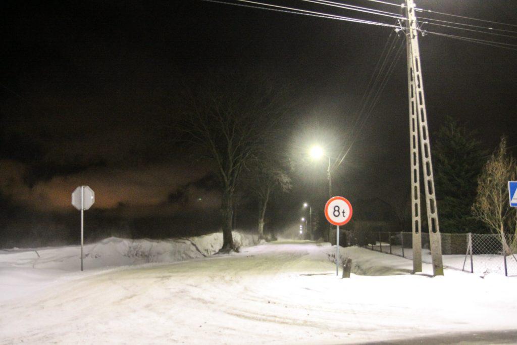 Sołectwo Mieroszyno, gmina Puck - zima