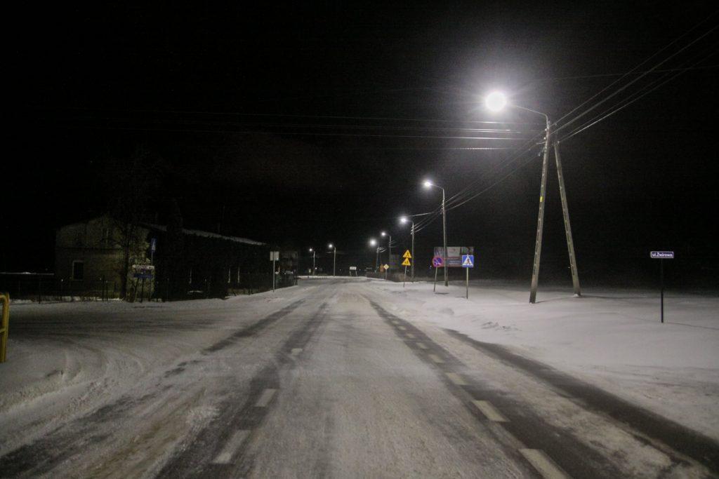 Sołectwo Mieroszyno, gmina Puck, zima