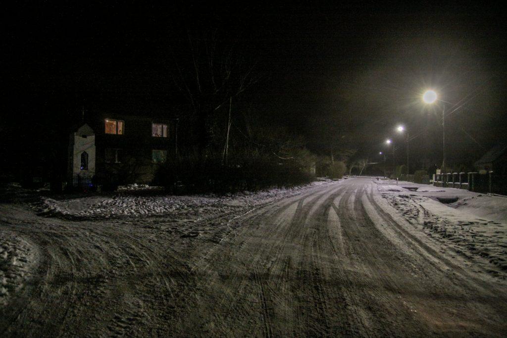 Sołectwo Mieroszyno, gmina Puck - wieś nocą