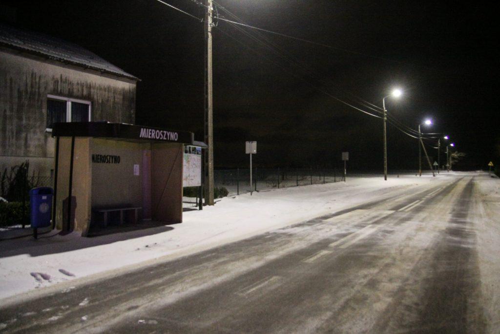 Sołectwo Mieroszyno, gmina Puck - przystanek PKS