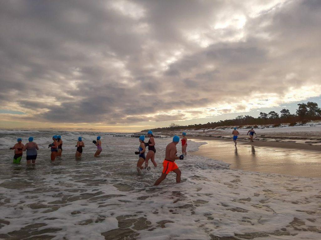 Nordowe Morsy, plaża Władysławowo - luty 2021