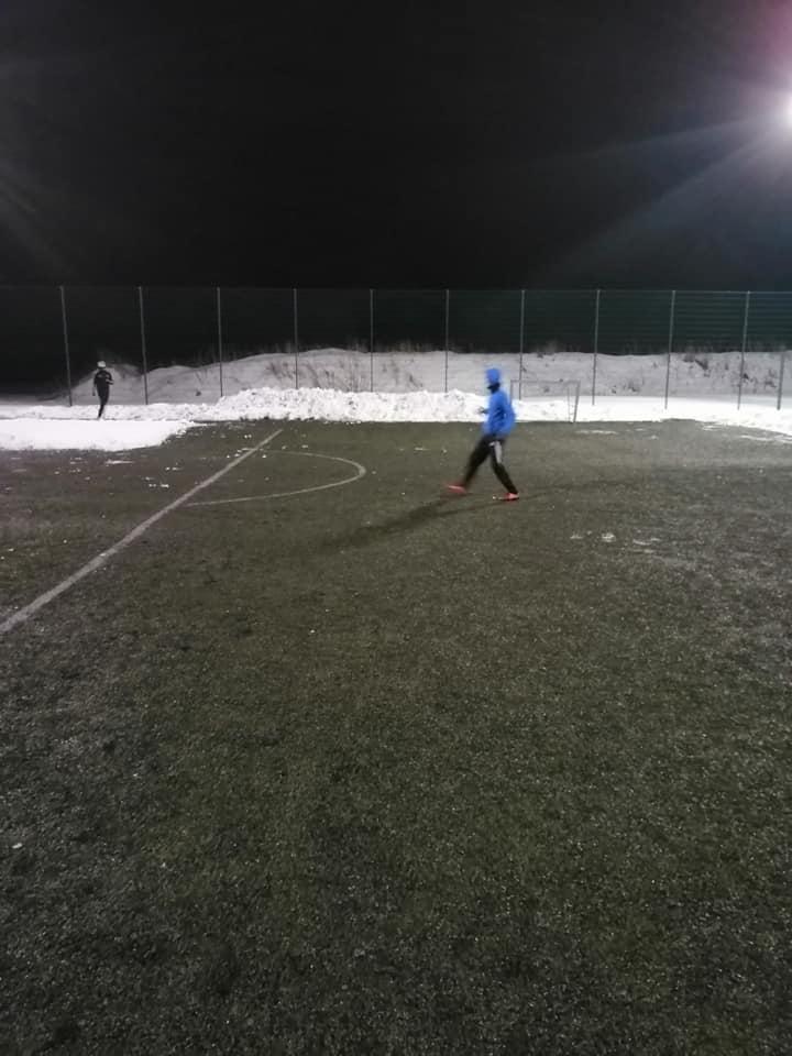 Arka Prusewo, trening zimą