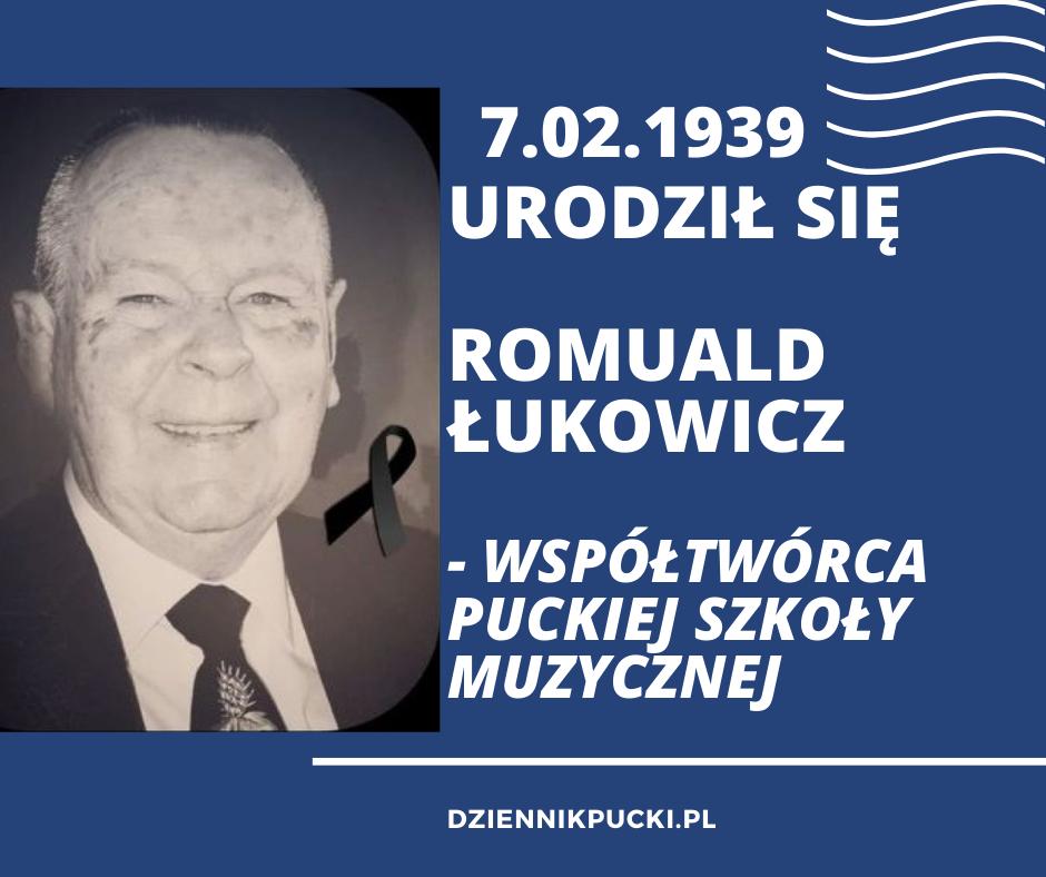 Kartka z kalendarza, powiat pucki: Romuald Łukowicz