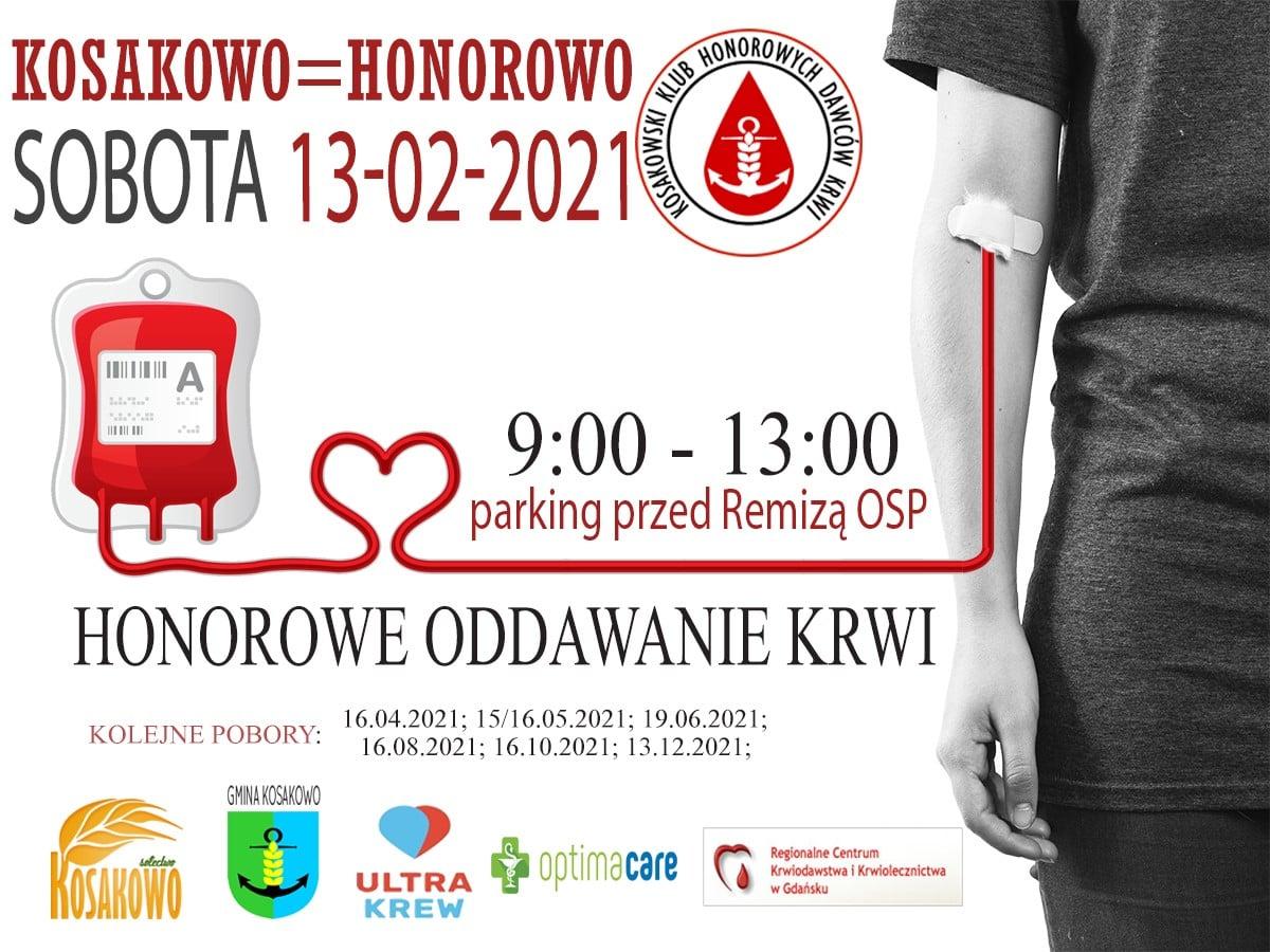 Kosakowo. W sobotę zapraszają pod remizę OSP Kosakowo, by honorowo oddać krew. Dołącz i Ty!
