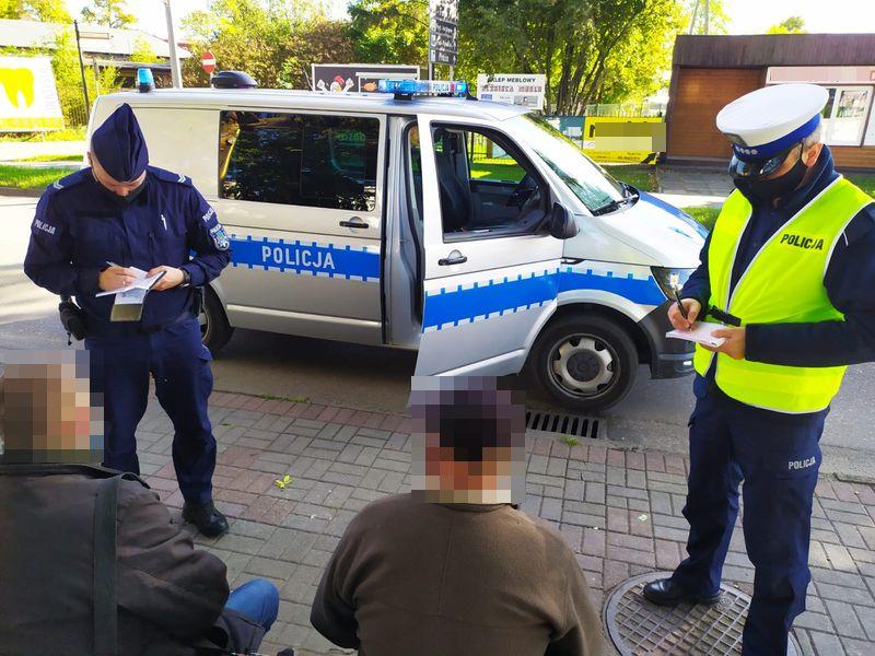 Powiat pucki koronawirus policja kontrole, covid 19