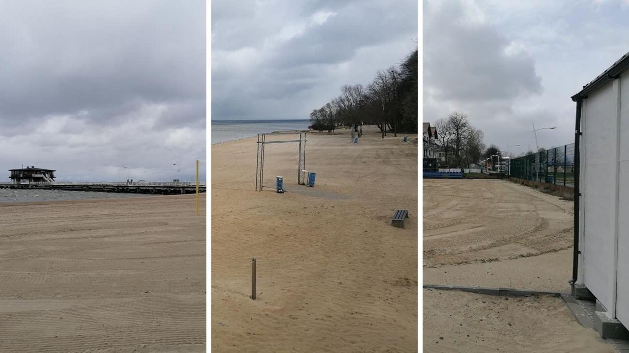 Dzień Ziemi w Pucku. MOKSiR zrobił niespodziankę: równa plaża i boiska do siatkówki