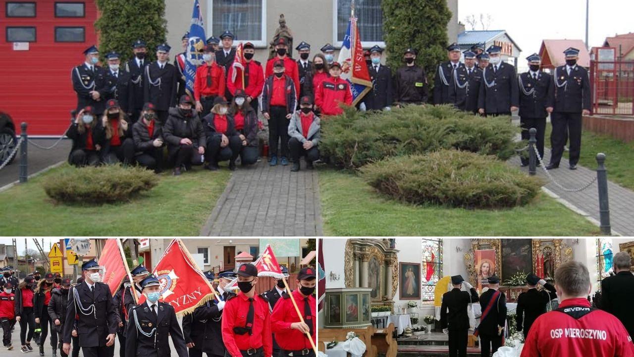 Wspólny Dzień Strażaka OSP Mieroszyno i OSP Strzelno. Pomodlili się za strażaków | ZDJĘCIA