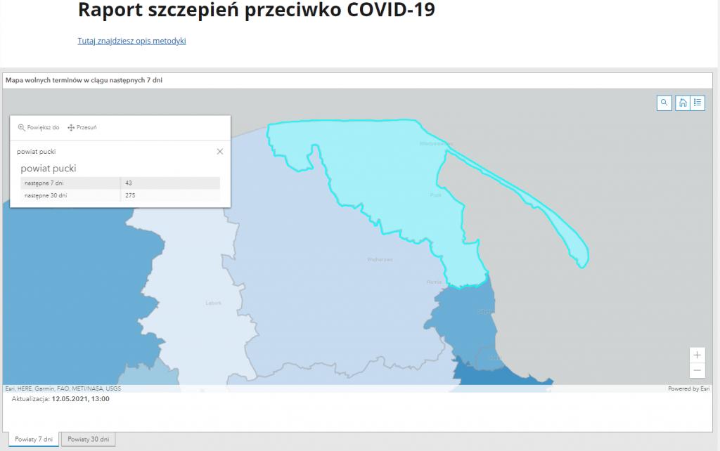 powiat pucki szczepienia raport maj 2021