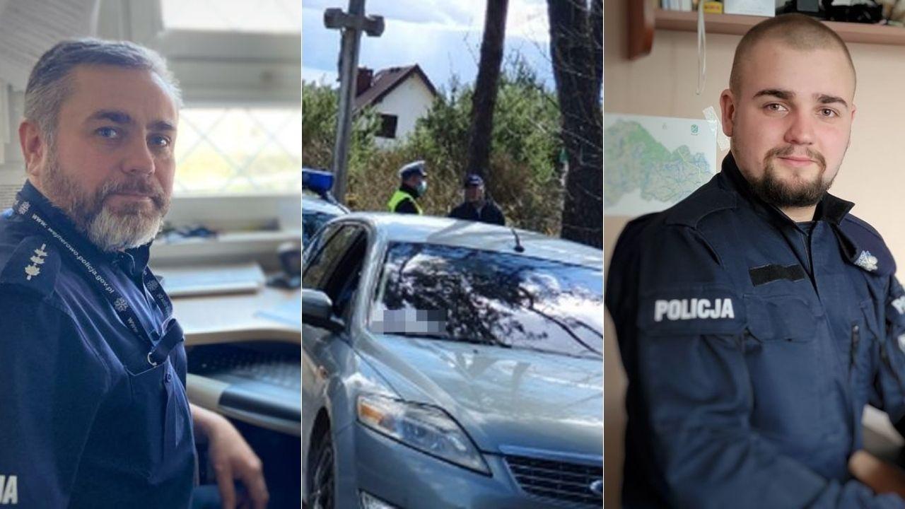 Leśniewo: dwaj policjanci po służbie, ojciec i syn, zatrzymali pijaną kobietę za kółkiem | ZDJĘCIA