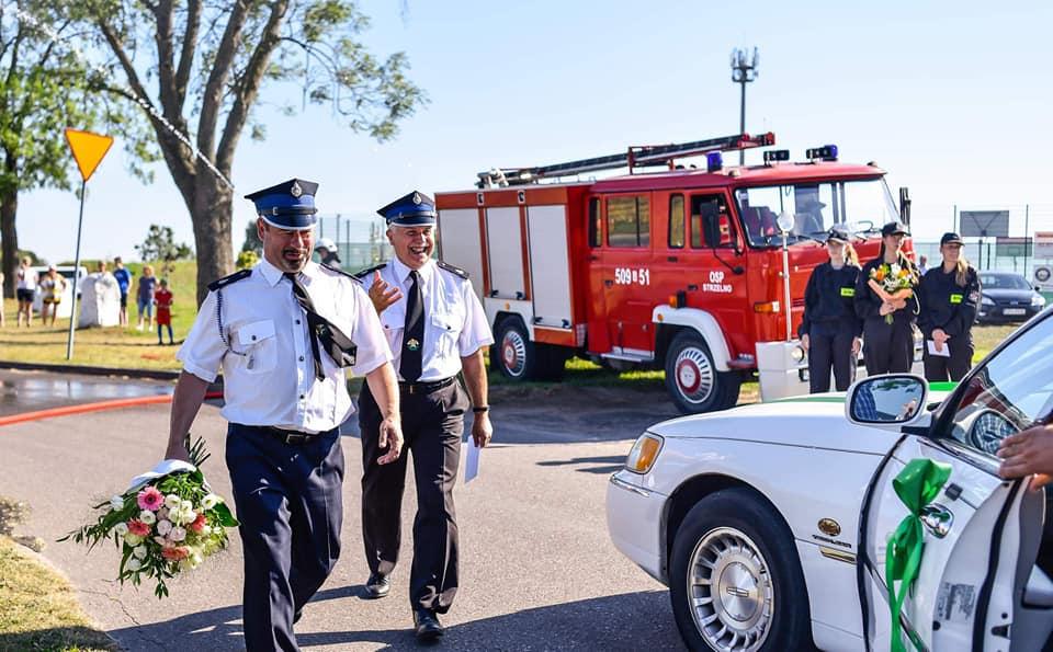 strażacki ślub Strzelno OSP
