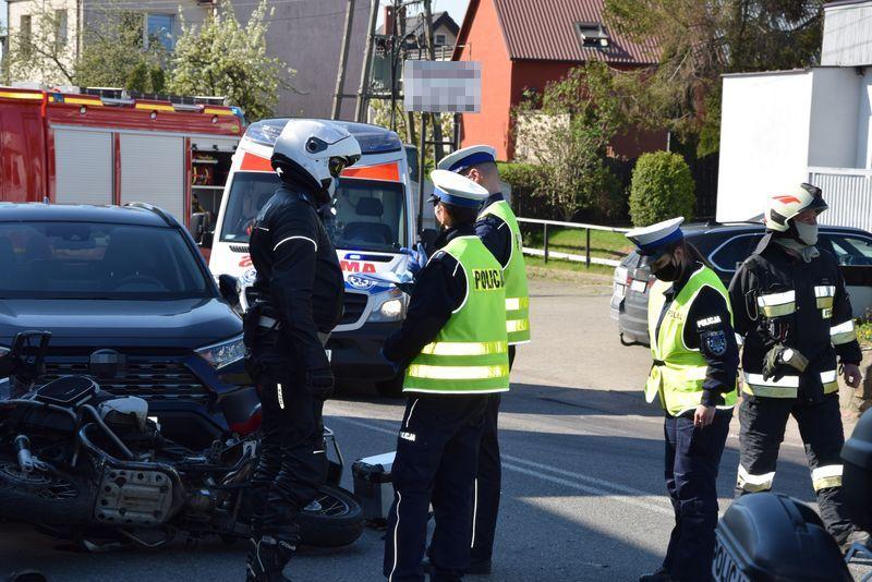 wypadek pierwoszyno motocykl 05 2021 nadmorska kronika policyjna