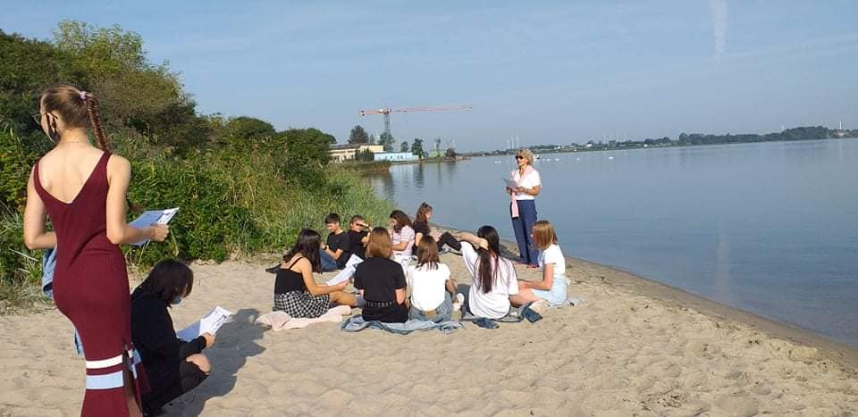 liceum puck lekcje na plaży