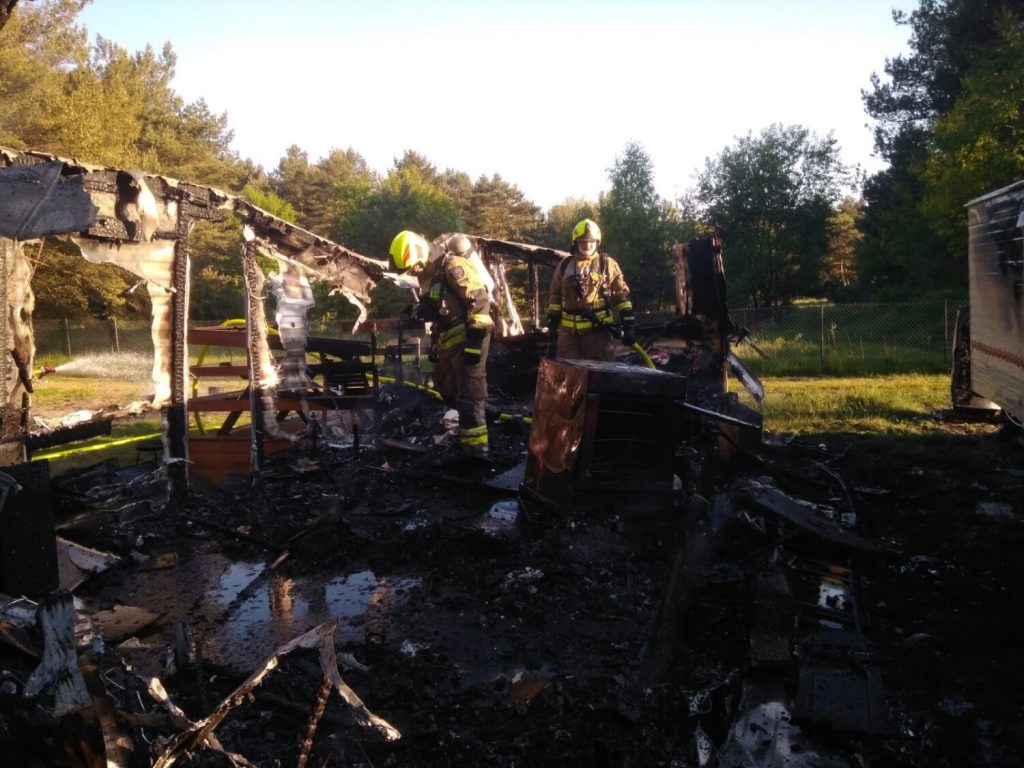 osp chłapowo pożar oland domek holenderski
