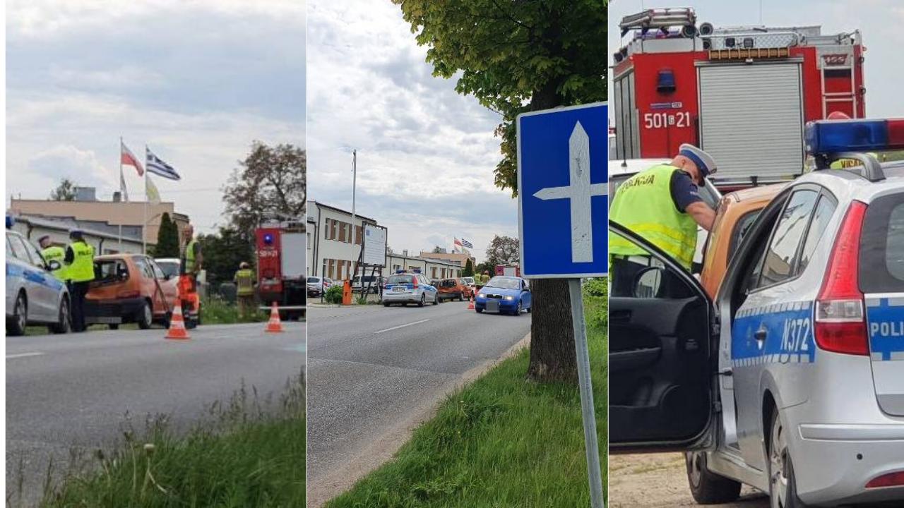 Puck – Żelistrzewo, wypadek na ul. Wojska Polskiego. Zderzenie dwóch aut koło Dagomy | ZDJĘCIA