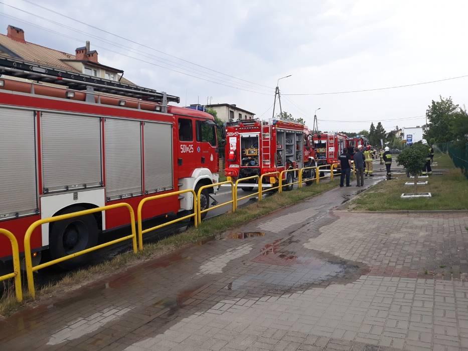 pożar dębogórze szkoła